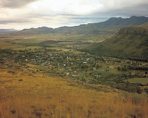 View of the town from Joubert Pass