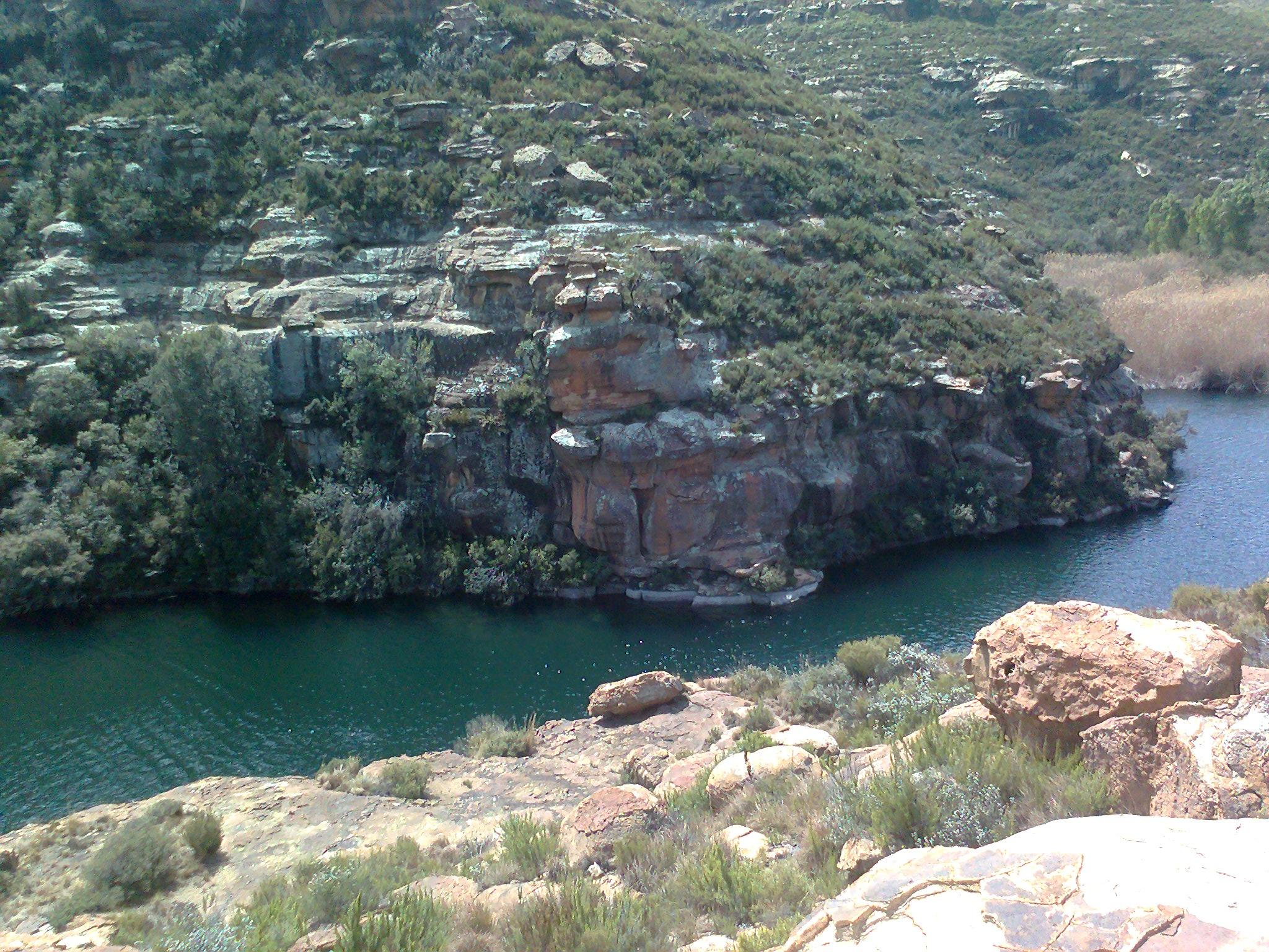 Supply dam next to Jourbert Pass
